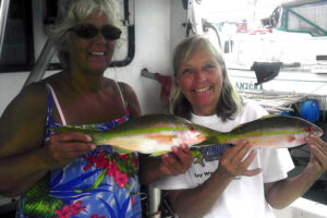 Vicky and Jane with a couple yellowtail_resize