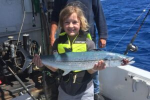 little girl - big mackeral